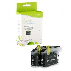 Compatible Brother LC101 LC103 XL 2 X Noir Fuzion (HD)