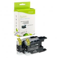 Compatible Brother LC75 XL 2 X Noir Fuzion (HD)