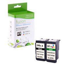 Recyclée Canon PG-240XL & CL-241XL Noir & Couleur Fuzion (HD)