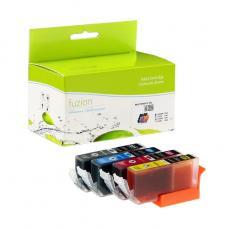 Compatible Canon CLI-221 Ensemble de 4 couleurs Fuzion (HD)